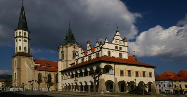 Dominanty historického námestia mesta Levoče