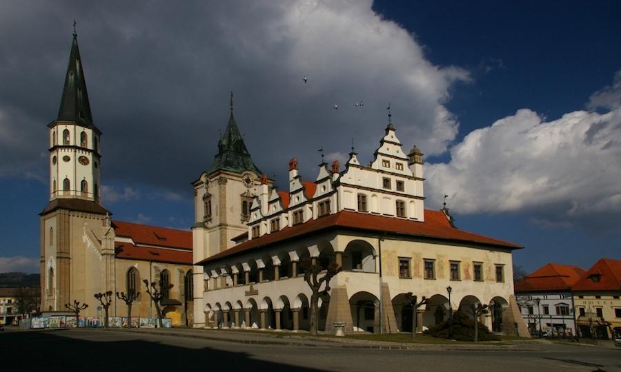 Levočská radnica a Chrám svätého Jakuba