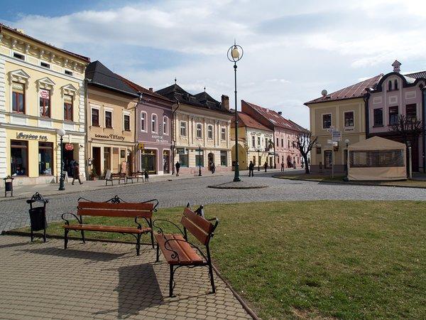 Kežmarok - pohľad na centrum